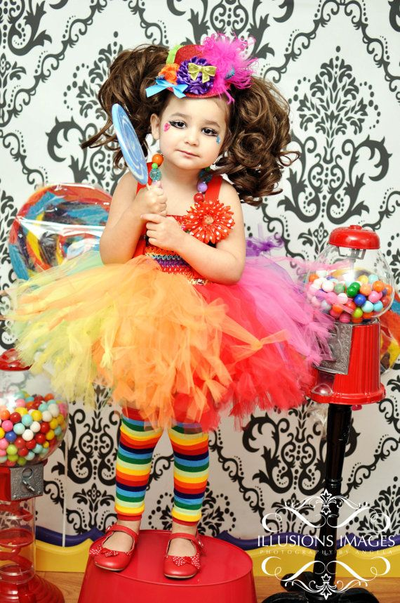 Toddler Clown Costume Tutu Set 8 Pieces Mini por cutiepiegoodies