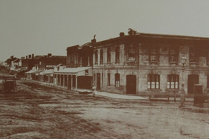 Bridge Road, Melbourne Australia in 1876