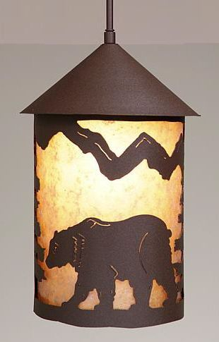 Cascade Lantern Bear Pendant