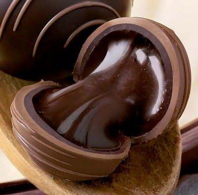 Dark Chocolate ganache Truffles Recipe ~ Easy Chocolate Cake good explanation and link to picture tutorial