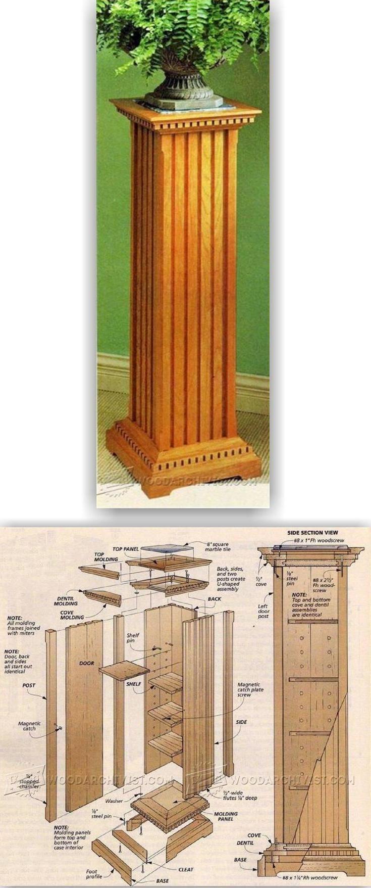 Storage pedestal plans furniture plans and projects for Proyectos de carpinteria pdf
