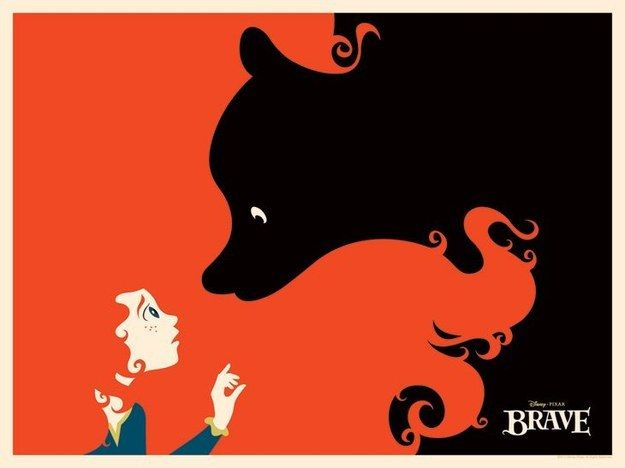 Valiente | 28 Posters minimalistas de Disney para el cuarto del bebé