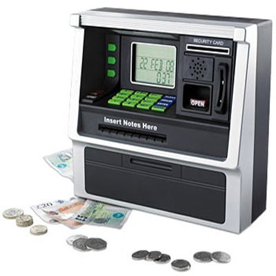 Kids Electronic Savings ATM | the piggy bank of the new millennium. The ATM Bank is a mini ATM ...
