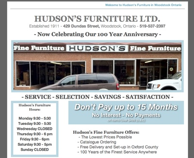 www.HudsonsFurnitureWoodstock.com