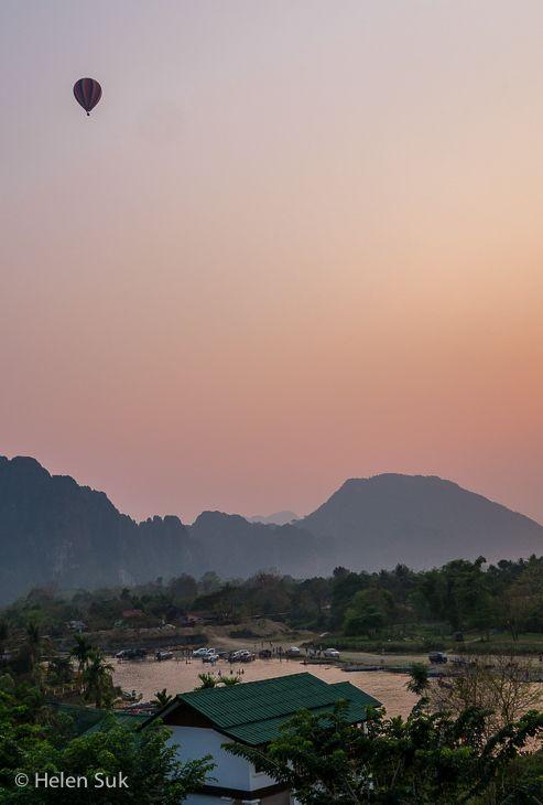 Sunset in Vang Vieng, Laos.