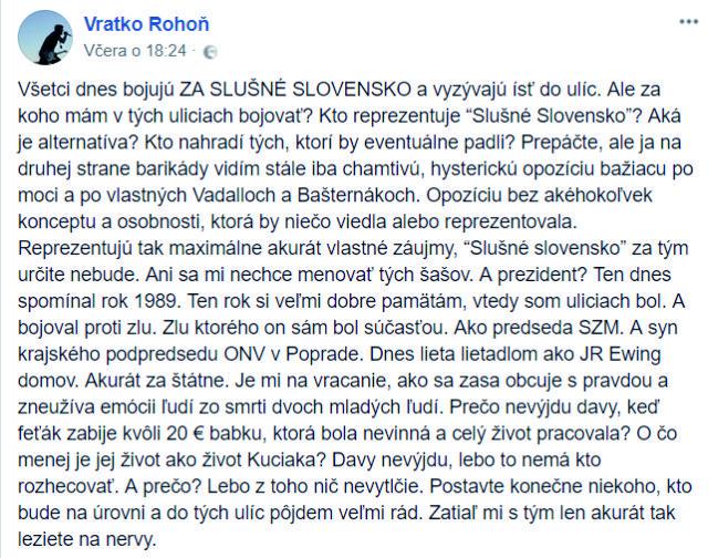 Vratko z Iné Kafe naložil všetkým politikom: Mnohí Slováci si myslia to isté!