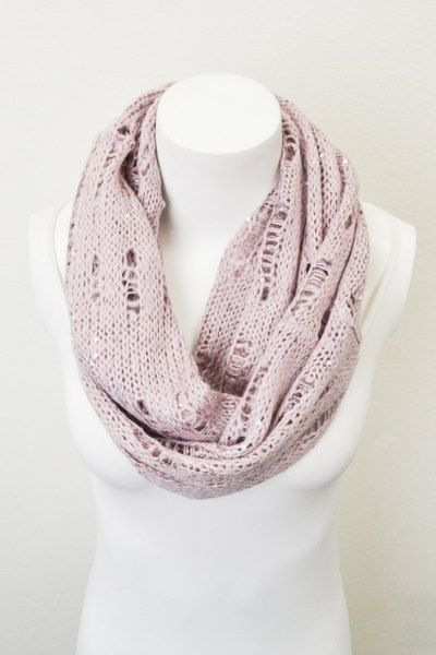 Rose Knit Infinity Scarf with Vintage Holes and by LePetitMonkey, $28.99