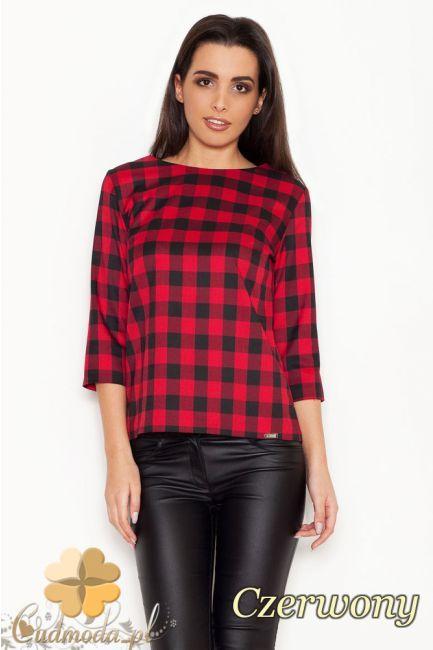 Elegancka a zarazem modna bluzka w kratę marki KATRUS.  #cudmoda #moda #ubrania #odzież #bluzki #krata #kratka
