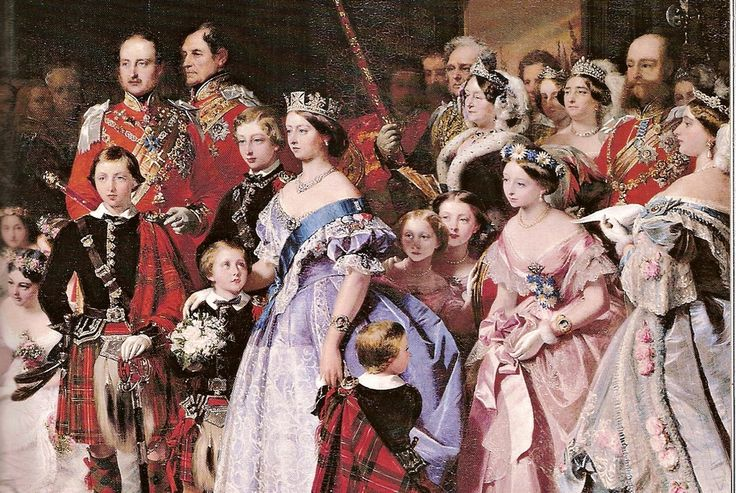victorian family photos | Queen Victoria and her family at her daughter Princess Royal wedding