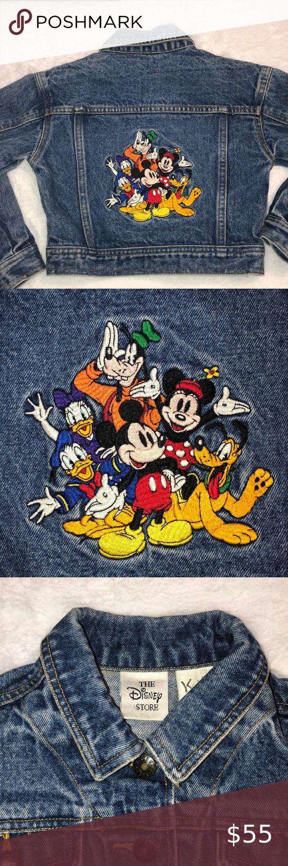 Vintage Disney Denim Jean Jacket Micky And Friends Kids Jeans Jacket Jeans Kids Ralph Lauren Baby Girl [ 1740 x 580 Pixel ]