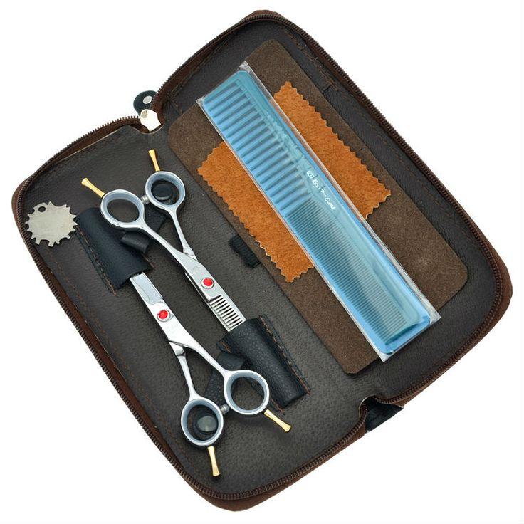 "5.5"" Professional Hair Scissors Set Hairdressing Scissors Hair Cutting & Thinning Shears Salon Hair Tool, LZS0396"