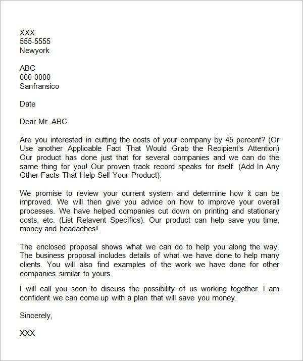 Business Proposition Letter New 38 Sample Business Proposal