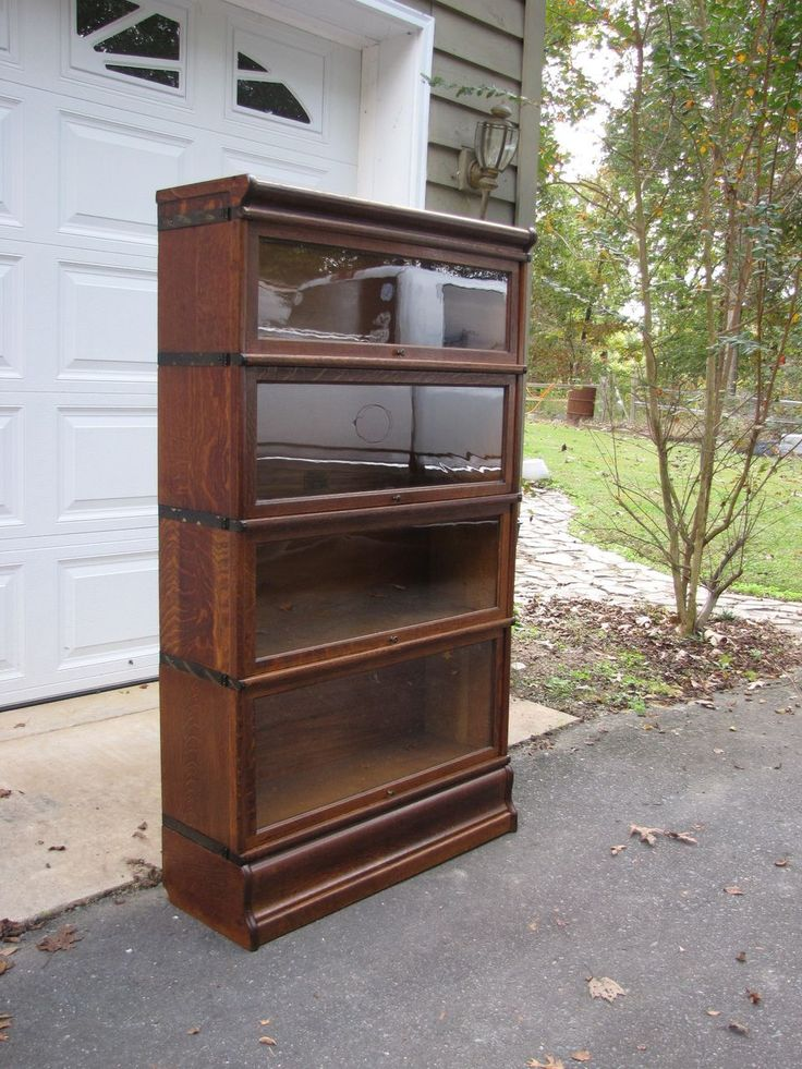 Barrister bookcase interesting furniture no big box for Stacking bookcase plans