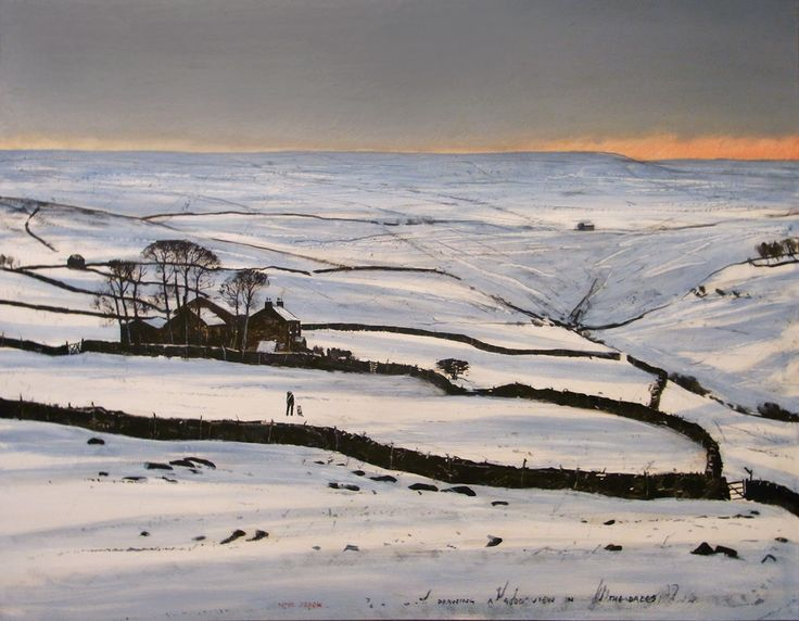 """Peter Brook, Pennine landscape painter..""""Out wi't Dog in't Snow""""  