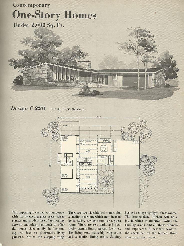 13 best vintage home plans images on pinterest | vintage house plans