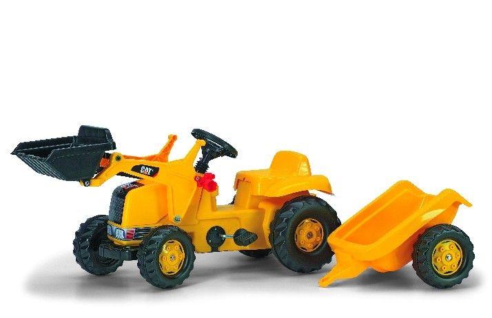 CAT markolós traktor és  utánfutó