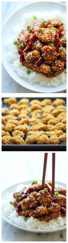 Lighter General Tso's Chicken - A lightened-up, baked version made ...