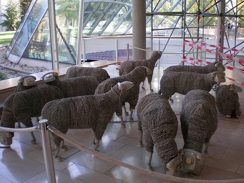 'Telephone Sheep', Jean Luc Cornec, Museum für Kommunikation, Frankfurt