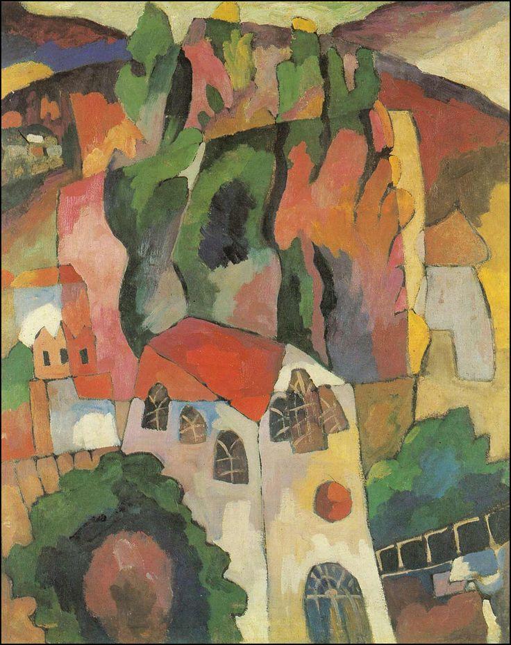 Aristarkh Lentulov (Russia 1882-1943) Cypresses. (Castle in Alupka) 1916