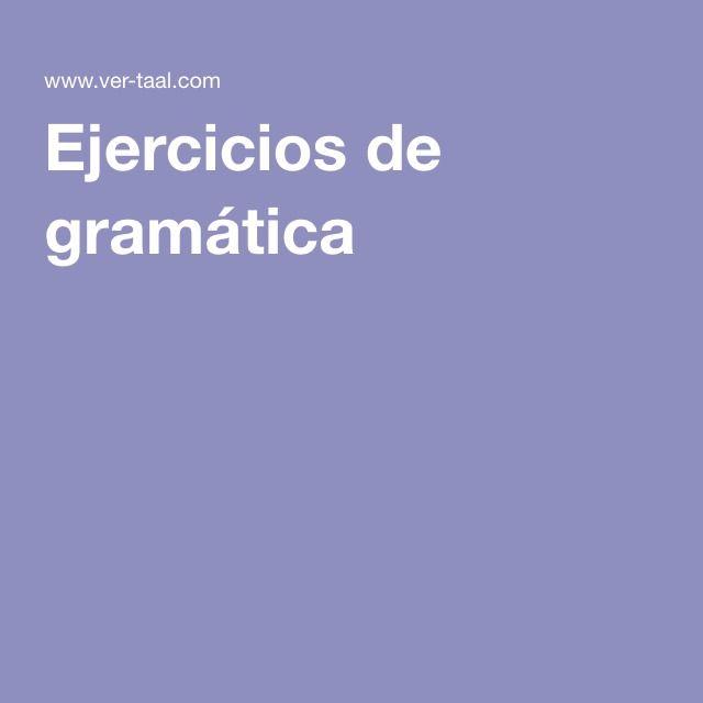 Ejercicios de gramática