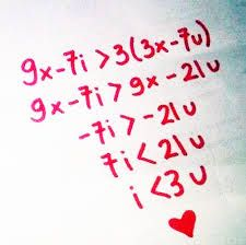 it would be really cute if you gave this equation to ur crush or significant other.