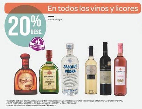 Ofertas Buen Fin: 20% de descuento en todos los Vinos y Licores, en City Club. Buen Fin, del 14 al 17 noviembre de 2014. #Promo #BuenFin