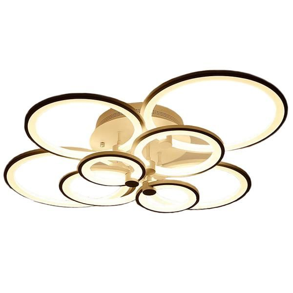 <b>rings</b> white finished chandeliers <b>LED circle modern</b> chandelier lights ...