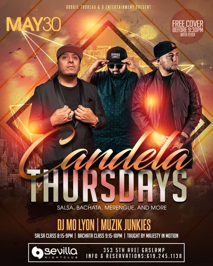 Free cover before 930 pm with flyer candelathursdays