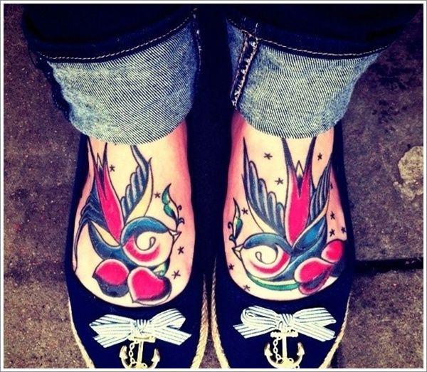 http://tattoomagz.com/swallow-tattoos/sweet-swallow-foot-tattoos/