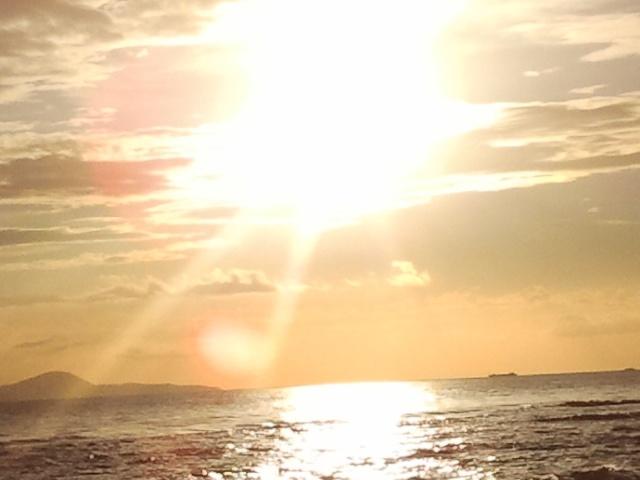 Sole sole sole #sunset #tramonto #follonica #beach #sea #mare #spiaggia