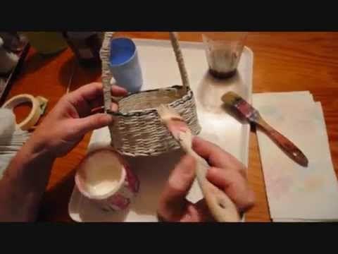 13.1. Acabado de las cestas: encolado y técnicas generales.