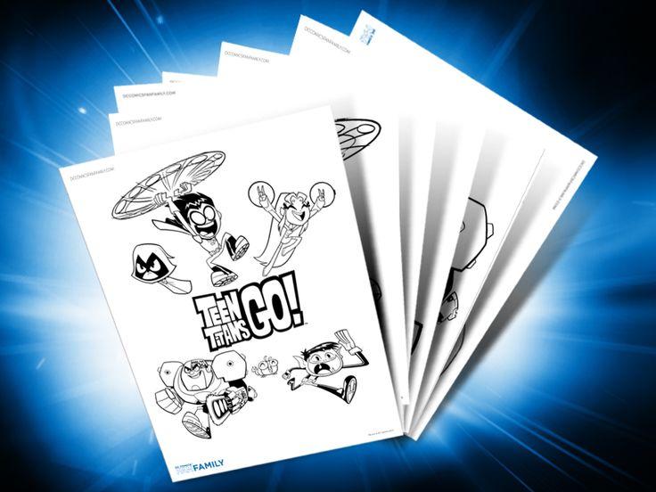 Themed Printables: Teen Titans Go!   DC Comics