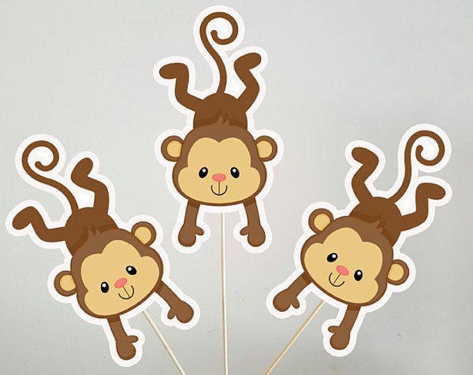 Monkey Centerpieces, Monkey Decorations, Monkey Sticks, Monkey Centerpiece