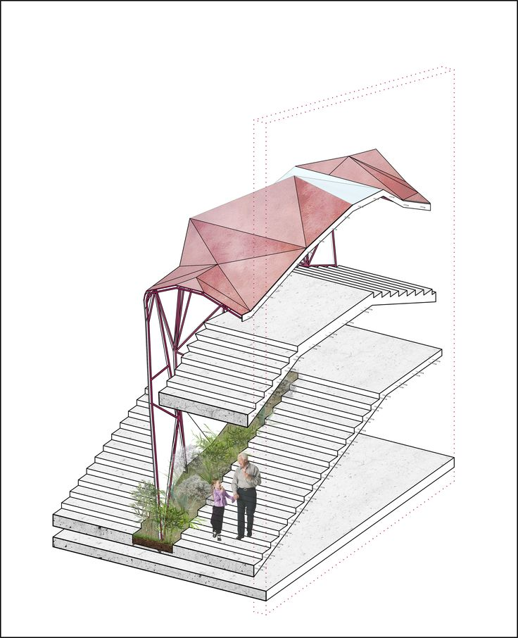 DEKEL commercial center proposal, Bavli district, Tel Aviv, Israel. Anna Kislitsina student project - 3rd year Shenkar College Interior, Building and Environment Design Perspective Section