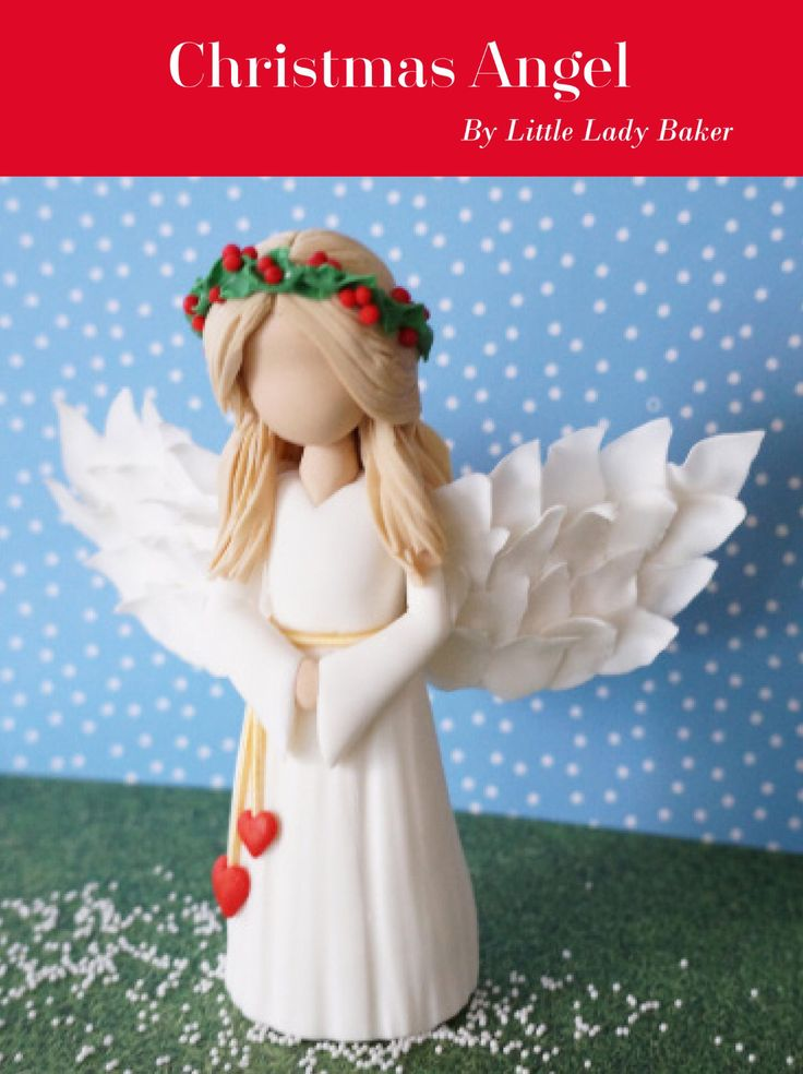 Christmas Angel tutorial by Little Lady Baker. As featured in Cake! magazine and on the Australian Cake Decorating Network blog at www.acdn.me