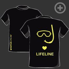Divers <3 LifeLine T-shirt in Black
