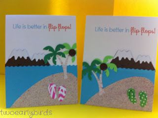 Two Early Birds: Flip Flop Summer Card