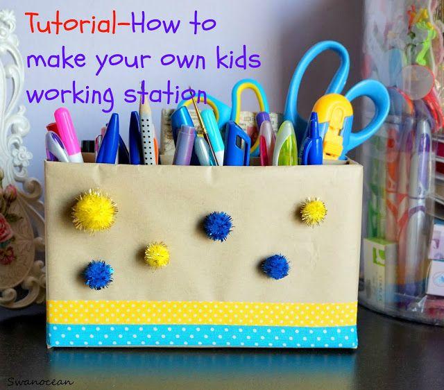 Swanocean: How to make a kids working station-Πως να φτιάξετε ένα σημείο αποθήκευσης εργαλείων του παιδιού