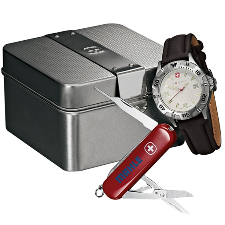 Wenger Swiss Military Brigade Watch Gift Set. (Customized with your brand or logo)