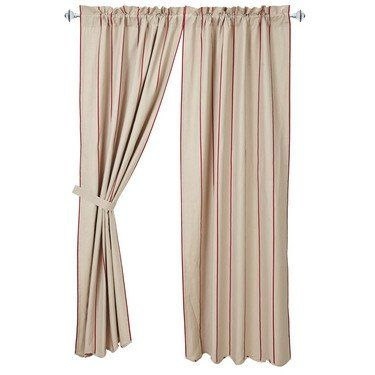 """Charlotte Rouge Scalloped Lined Panel Curtains 84""""   Scalloped panel curtains measure 40x84"""" each Come in a set of 2 Each curtain has a 2"""" header and 3 1/4"""" rod pocket Made from 50% cotton and 50% lin"""