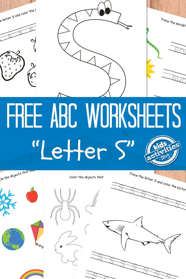 Letter S Worksheets Free Kids Printable