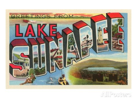 Greetings from Lake Sunapee, New Hampshire Prints at AllPosters.com