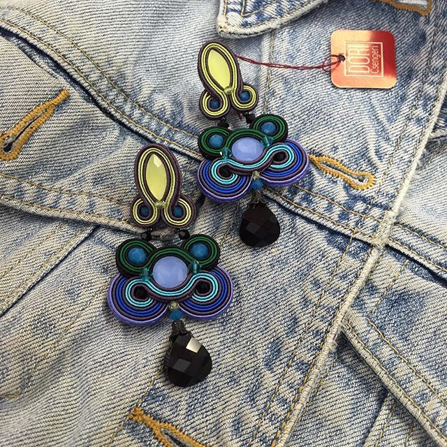 Dress up your denim jacket with cool accessories that apeal to your boho effortless style.... #DoriCsengeri #denim #fashionaccessories #ss2016 #springtrends #bohostyle #bohochic #blue #earrings
