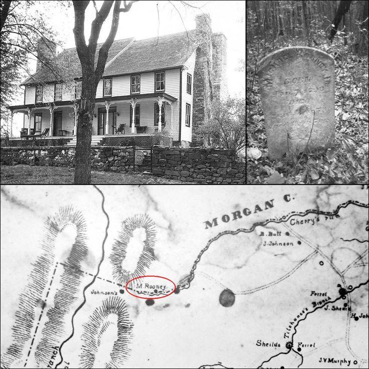 Hedgesville, West Virginia, Snodgrass Tavern, MIchael Rooney tombstone.