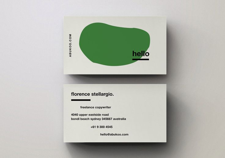Minimal business card template designs