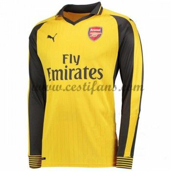 Arsenal Fotbalové Dresy 2016-17 Venkovní Dres Dlouhým Rukávem