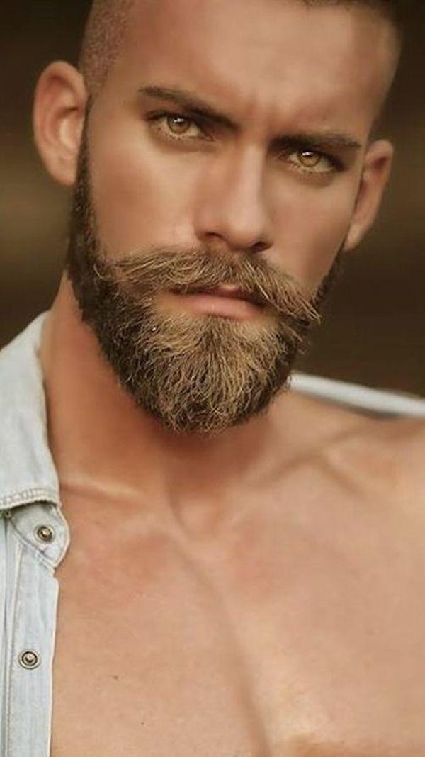 42 Dapper Beard Styles for Bald Men | Bald Men with beautiful eyes and Beards