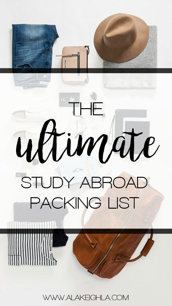 The Ultimate Study Abroad Packing List - A La Keighla