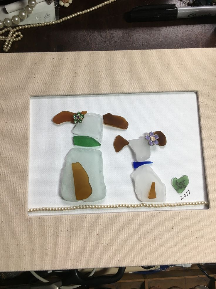 More sea glass dogs Best pals