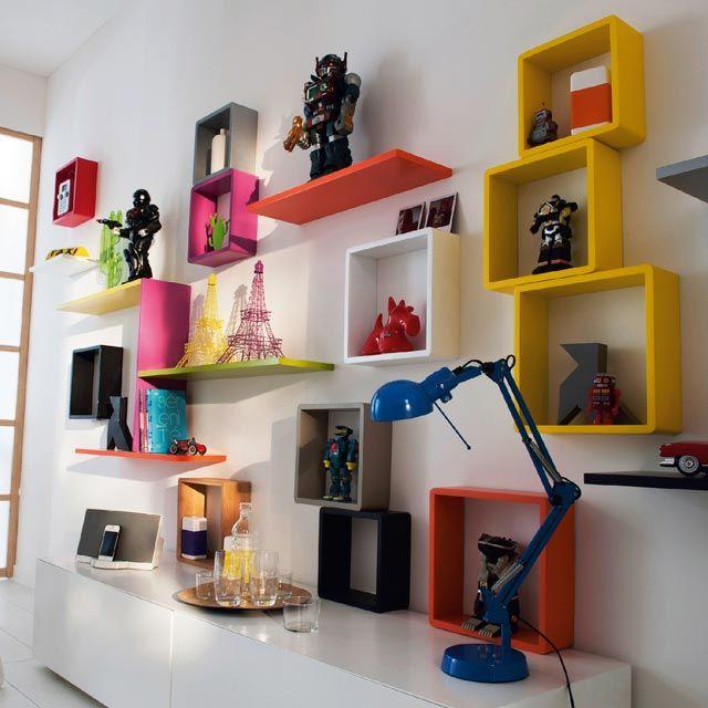 Lot 3 cubes Lima taupe - CASTORAMA   Rangement mural, Cube rangement, Etagere cube